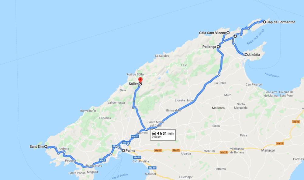 mallorca road trip map