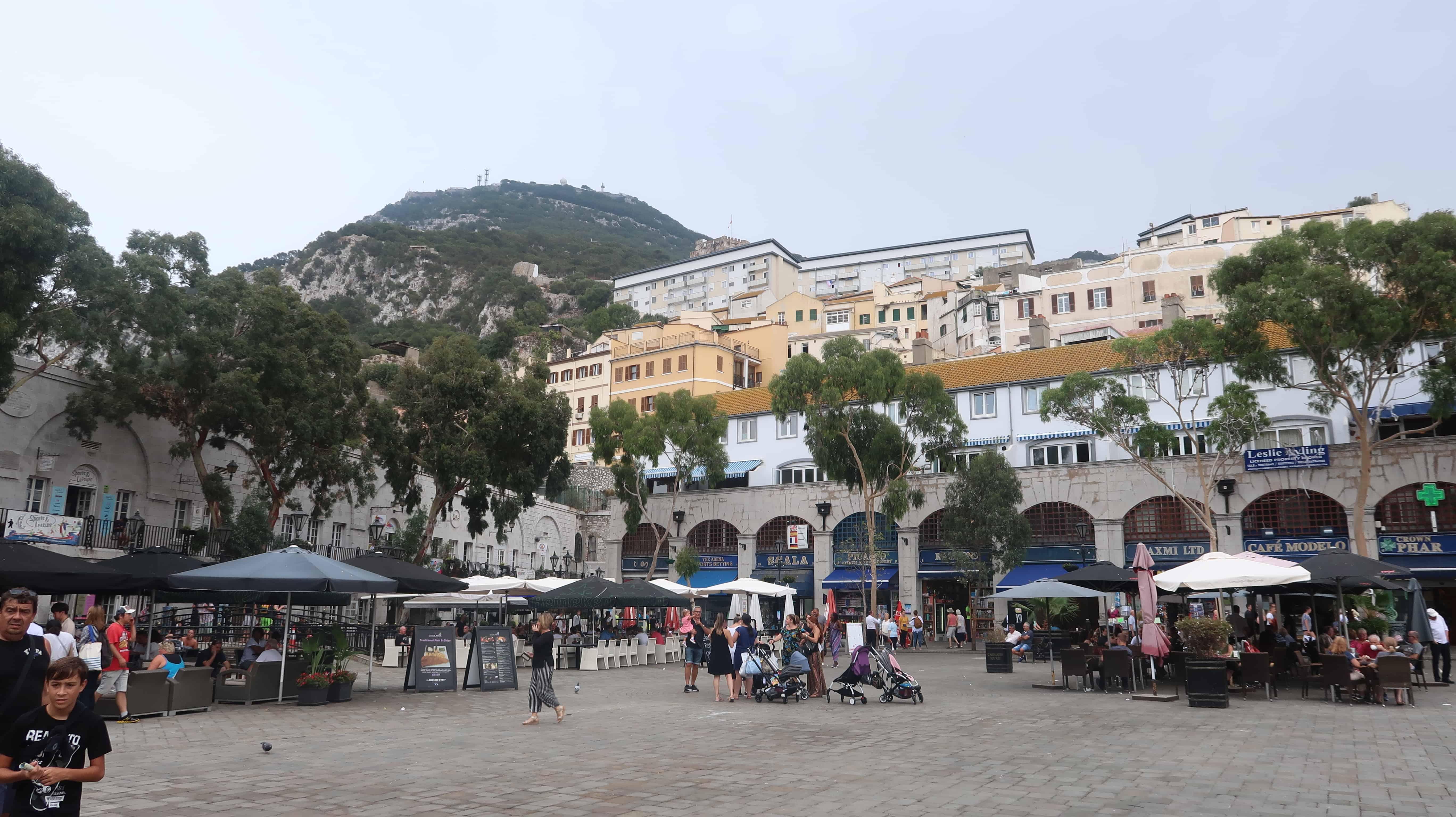 Mediterranean steps Gibraltar Europe