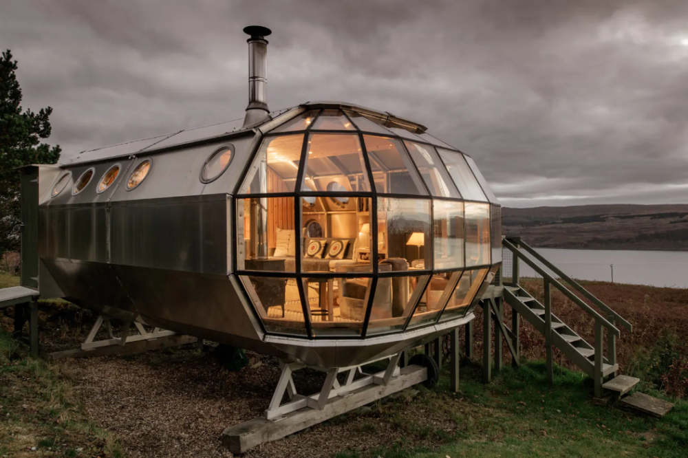 unique airbnb stays uk airship
