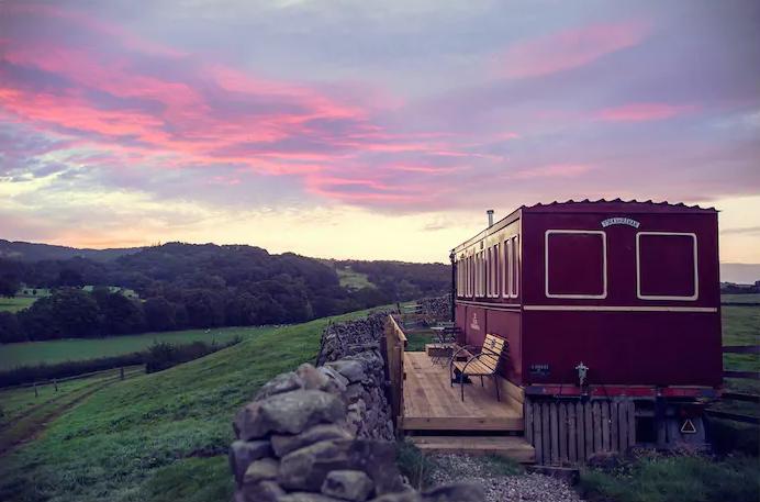 unique airbnb stays uk train