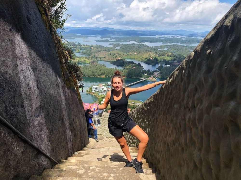 Guatape up the rock 700 steps