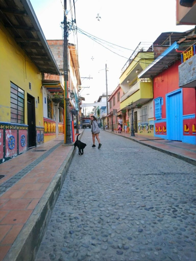 backpacking Colombia city