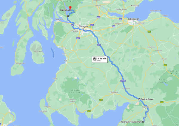 road trip scotland map