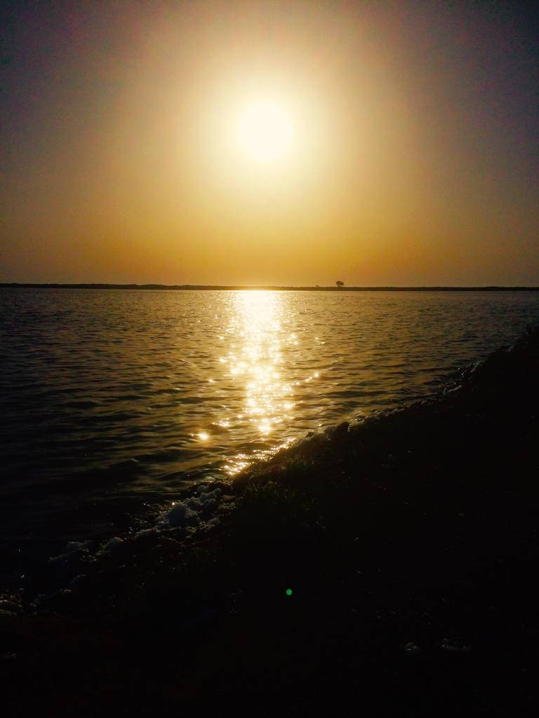 Sunrise over the salt lakes