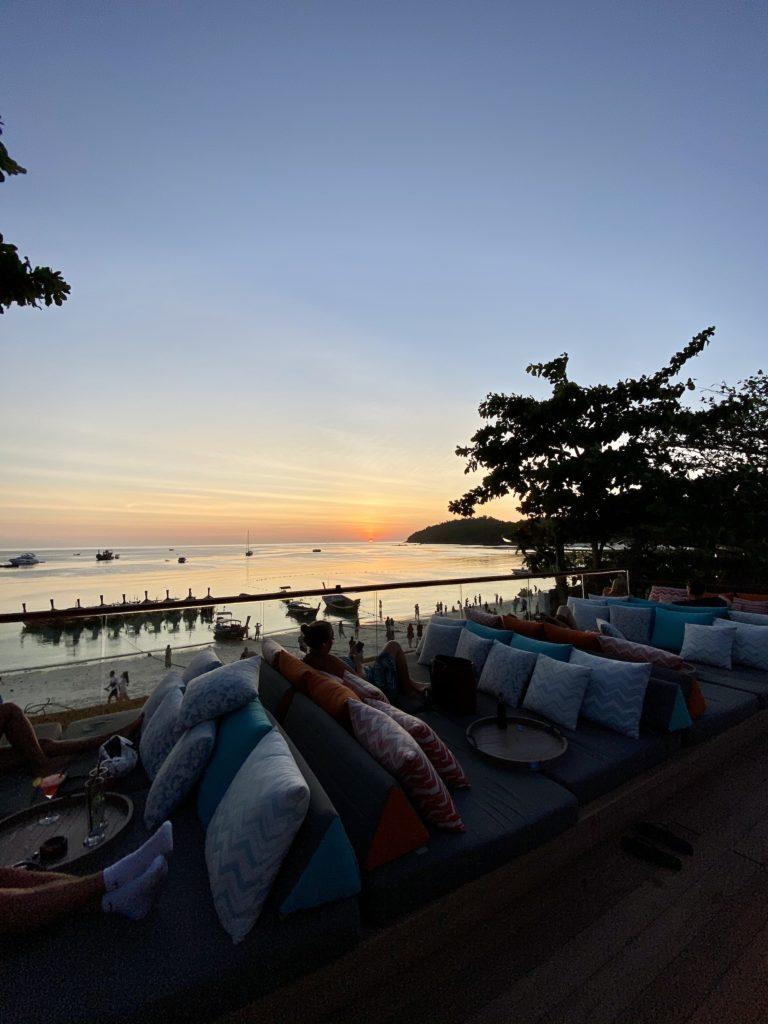 Pattaya Beach Sunset, The Steak House rooftop Bar